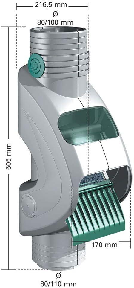 Rainus Filtre d/'eau de pluie pour des tuyaux  d80//110mm couleur gris