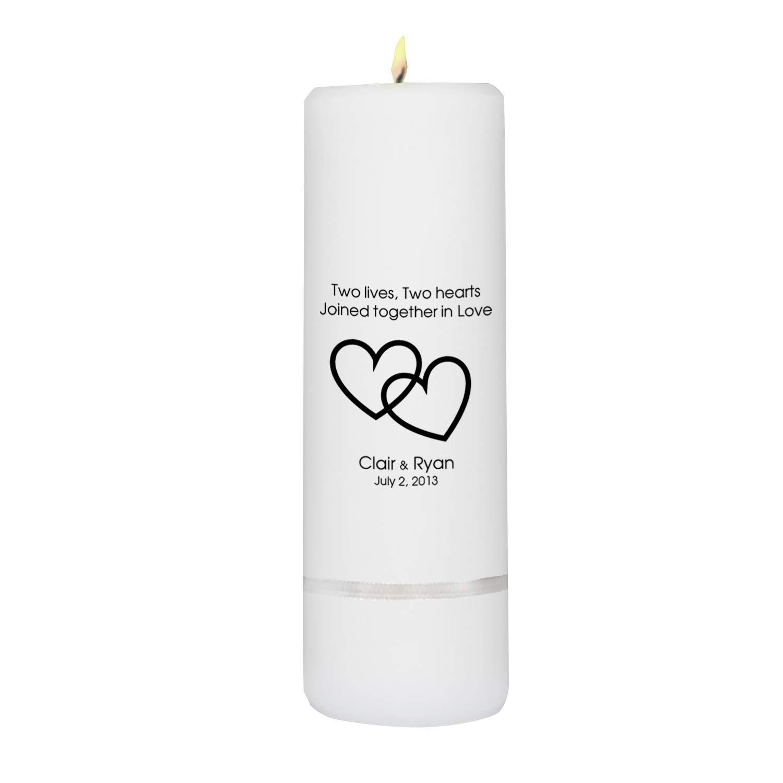 Personalized Unity Candle - Personalized Wedding Candle - Wedding Gift - Monogrammed Wedding Unity Candle - 3''x9'' by A Gift Personalized