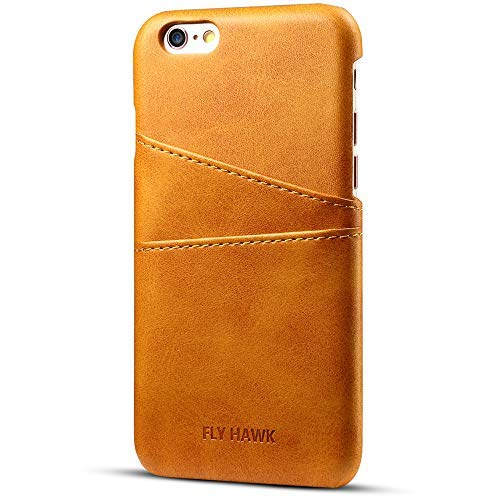 Iphone 6/6S Wallet Phone Case, Slim Leather Back Case Cover With Credit Card Holder Khaki Case