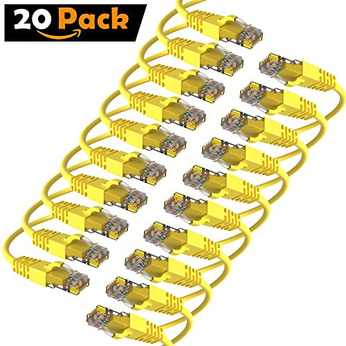 Maximm Cat6 Snagless Ethernet Cable - 25 Feet - Yellow - [20 Pack] - Pure Copper - UL Listed - Cable Ties Included by Maximm (Image #6)
