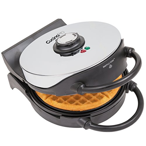 Waffle Maker- Non-stick American Waffler Iron with Adjustable Browning Control- Beeps When Ready by CucinaPro (Image #2)