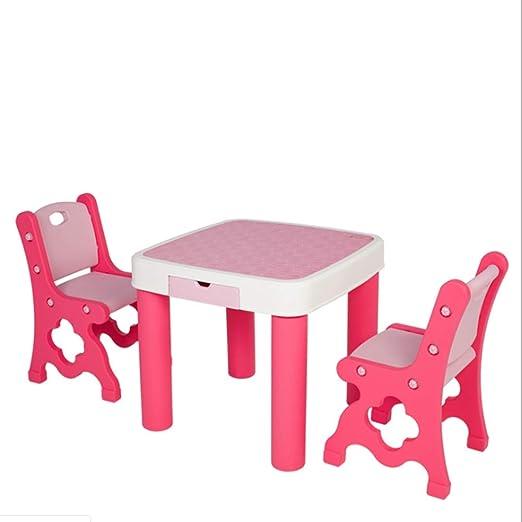 Mesa De Estudio para Niños Y Silla Set Bebé Juguete Mesa con ...