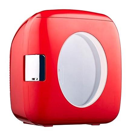 DD 4L Coche Hogar Estudiante Dormitorio Mini Nevera, Red,red ...