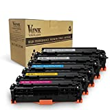 V4INK 5 Packs New Replacement for Canon 118 toner HP CC530A HP 304A Toner Cartridge for use with Canon ImageCLASS MF726Cdw LBP7660Cdn MF8580CDW MF8380Cdw, HP Color LaserJet CP2025dn CM2320fxi