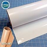 Siser Easyweed White Heat Transfer Craft Vinyl Roll (50ft x 15'' Bulk w/ Teflon roll)