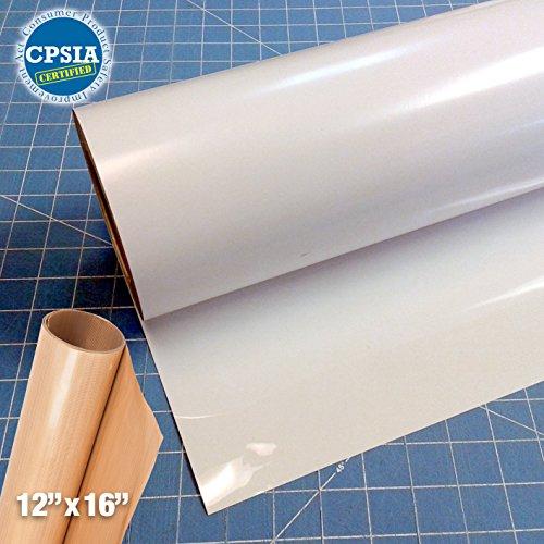 Siser Easyweed White Heat Transfer Craft Vinyl Roll (50ft x 15'' Bulk w/ Teflon roll) by Siser