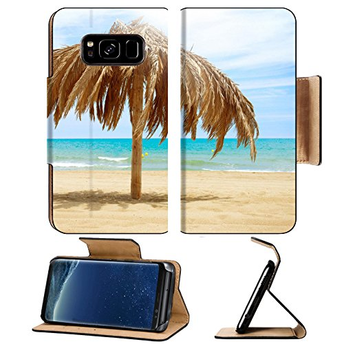 MSD Premium Samsung Galaxy S8 Plus Flip Pu Leather Wallet Case IMAGE ID 20793592 Vacation Concept Palapa Sun Roof Beach (Leather Sunroof)