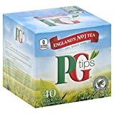 PG Tips Black Tea, Pyramid Tea Bags, 40-Count Boxes (Pack of 6)