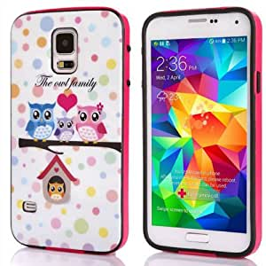 Doinshop New Fashion Family OWL TPU Back Case Cover for Samsung Galaxy S5 I9600 G900