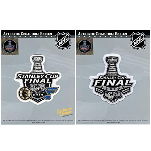 2019 Stanley Cup Final and 2019 Dueling Boston Bruins Vs Blues Patch Combo ()
