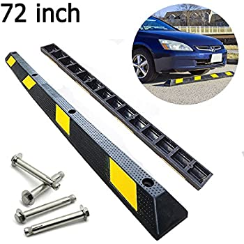 "Amazon.com: 72"" Heavy Duty Rubber Car Stopper Garage"