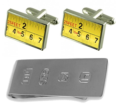 Builder James Tape Clip Cufflinks Measure Bond Tape Money amp; Builder BUq4d