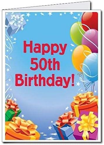Amazon.com: VictoryStore Jumbo Greeting Cards: Giant 50th Birthday