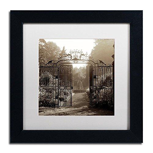 Hampton Gates III by Alan Blaustein, White Matte, Black Frame (Hampton Gate)