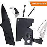Credit Card Knife Set – Best Gift for Men – Folding Wallet Knife and Credit Card Multitool – Credit Card Size...