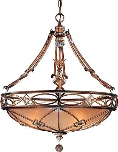Minka Lavery Pendant Ceiling Lighting 1747-206, Aston Court Large Bowl, 3 Light, 300 Watts, Bronze