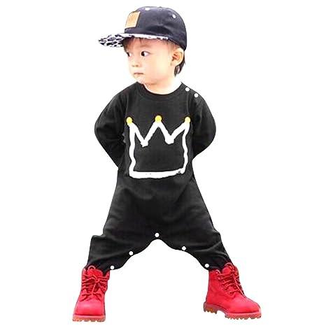 Traje de caballero para bebé, de Domybest, conjunto de manga larga Black Crown