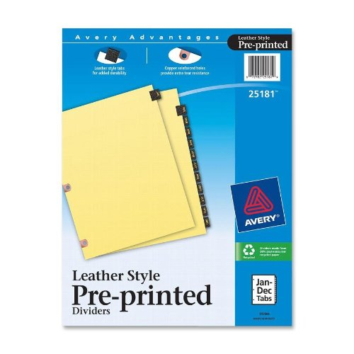 Avery Leather Preprinted Dividers 25181
