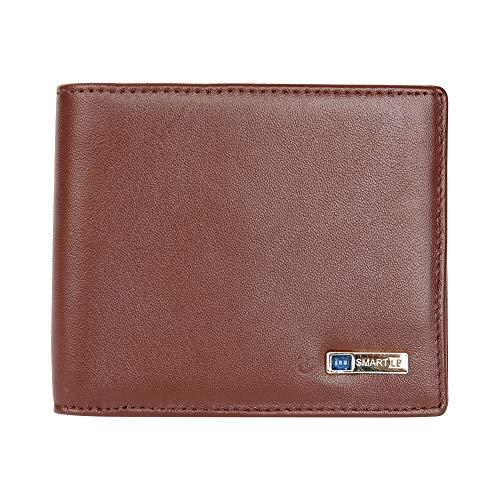 Modoker Smart Anti Lost Wallet, Slim Tracking Wallet Bifold Cowhide Leather Tracker Wallet - Gift for Men Wallet