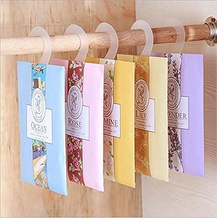 Amarillo genérico: 2 unidades/pack de bolsitas de lavanda fragante para colgar en el armario del armario del coche, el olor del moho.: Amazon.es: Hogar