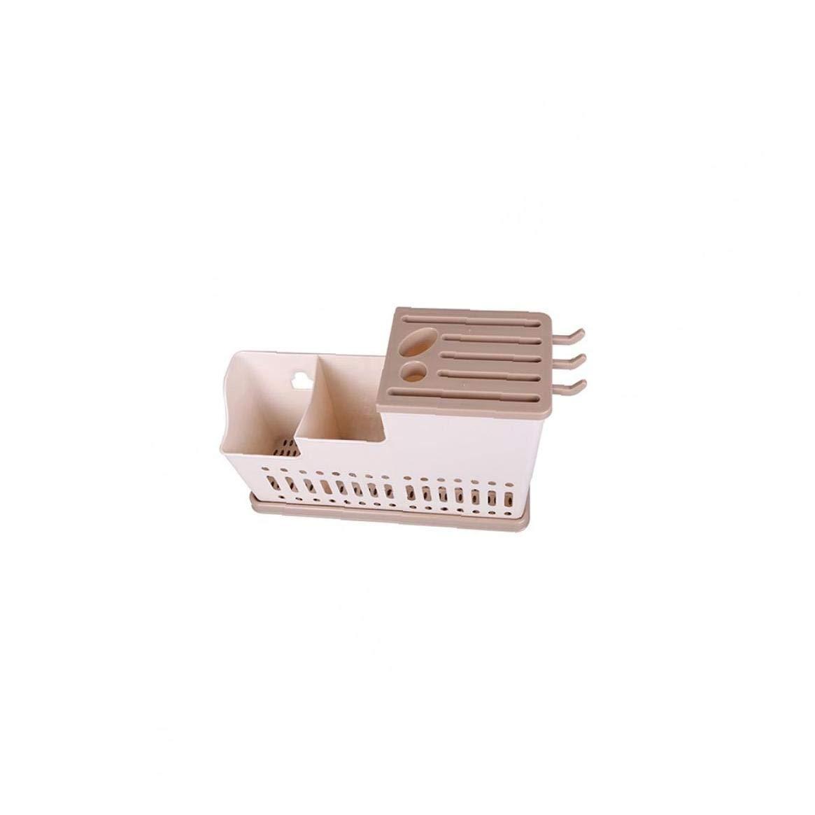 Schnuger Einfache Reinigung K/üche Geschirr Wschetrockner Besteck Ablass Rack-Messer-Halter Essst/äbchenhalter Brown Geschwindigkeit Stacks