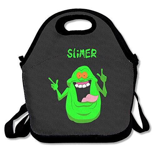 [Ghostbusters Slimer Lunch Bag Travel Zipper Organizer Bag, Waterproof Outdoor Travel Picnic Lunch Box Bag Tote With Zipper And Adjustable Crossbody] (Flamenco Costumes San Francisco)