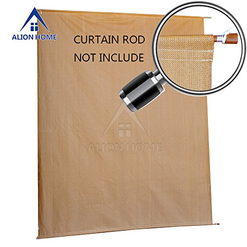 4' Lowering Blocks (Alion Home Sun Shade Rod Pocket Panel for Patio, Awning, Window Cover, Instant Canopy Side Wall, Pergola or Gazebo (6'x 4', Coffee))