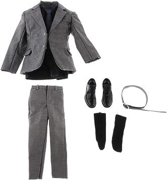 Amazon.es: P Prettyia Conjunto Vestido de Hombre de Ropa, Pantalones, Corbata, Camisa, Cinturón, Zapatos de Cuero, Calcetines para Doll 12 Pulgadas: Juguetes y juegos