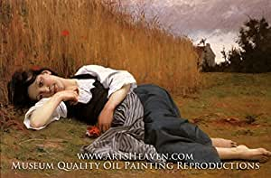 Amazon.com: Bouguereau, Rest in Harvest, Hand Painted Oil