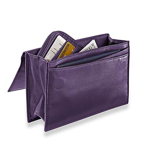 Levenger RFID Travel Wallet & Passcase - Grape