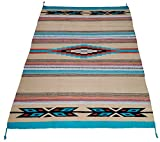 El Paso Designs Beautiful Hand-Woven Serape Area Rugs Featuring Feather Hawkeye Pattern. Three Sizes to Choose From. (HA4X6FEATHER5)