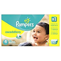 Pampers Size 4 Swaddlers Diapers, 116 Count