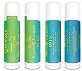 Mistaya Organic Skincare Organic Sunscreen Stick SPF 30 Plus Broad Spectrum Non-Nano Zinc Oxide, (Pack of 4)