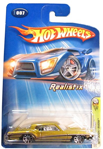 Hot Wheels 2005 Gold 1971 Buick Riviera1:64 Scale Collectible Die Cast Car Model #007