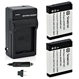 Smatree Batteries Charger Kit for GoPro Hero 1/2 Digital Camera