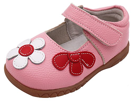 Femizee Fashion Leather Flats Shoes Mary Jane Shoes For Toddler Girls,Pink,1529 CN22