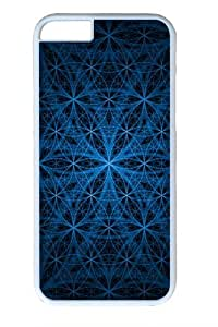 Blue Circles Custom iPhone 6 Case Cover Polycarbonate White