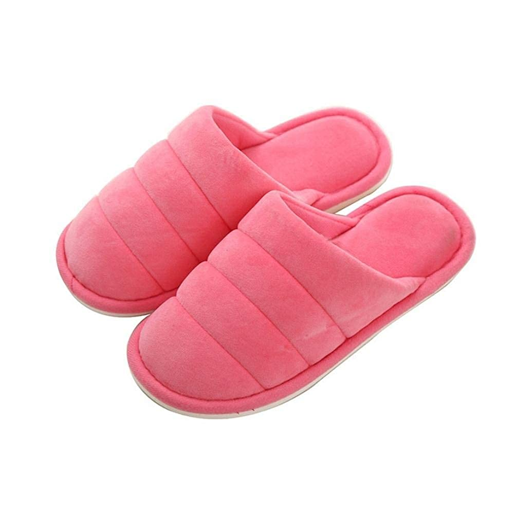 pink red Lady Slippers Ladies Home Non-Slip Breathable Super Soft Slippers Autumn and Winter Indoor and Outdoor Solid color Classic Basic Cotton Slippers