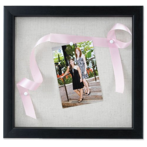 Lawrence Frames Black Shadow Box Frame, Linen Inner Display Board