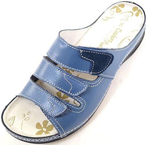 Mesdames / Femmes Véritable Cuir Ripper Fixation Été / Vacances / Sandales De Plage / Chaussures Denim