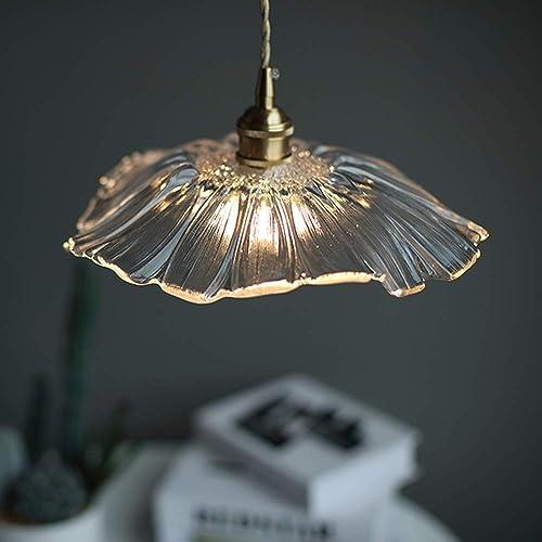 TREDSHINE Post-Modern Nordic Glass Hanging Light, Adjustable Chandelier, Bedroom Pendant Lights, Restaurant Bar Lights Hanging Light Fixture Pendant Lighting for Kitchen, Island Dining Table, Bedroom