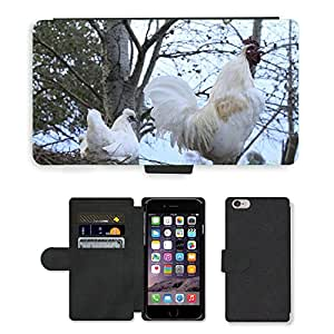 "PU LEATHER case coque housse smartphone Flip bag Cover protection // M00133893 Pollos Gallinas Animales Granja // Apple iPhone 6 PLUS 5.5"""