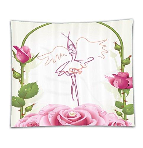 Beshowereb Fleece Throw Blanket Curtains for Girls Decorations Ballet Dancer Gifts for Ballerinas Dance of Fairy Wings Theme Gazebo R