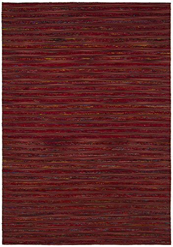 Chandra Rugs Aletta Area Rug, 60-Inch by 90-Inch, Red/Multicolor