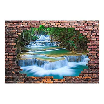 Large Wall Mural Cascading Waterfalls in The Forest...