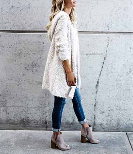 In Elegante Stile Giacca Cappotti Corto Bianca Modo Di Donna Peluche Giacche Cerniera Capispalla Strada wHPwT6