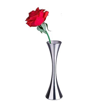 IMEEA Mini Flower Vase Kleine Bud Vase für Dekorative Home Decor Wohnzimmer Büro und Aufsteller Edelstahl 17 cm Hoch