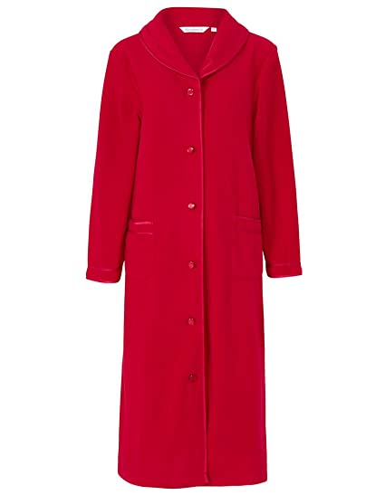2e1ec734d728 Slenderella HC6321 Women s Red Dressing Gown House Coat Robe ...