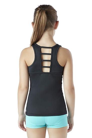 Gym Yoga Liakada Girls Wide Strap Ladder-Back Tank Top for Dance Cheer! Aerobics