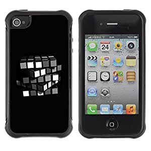 "Hypernova Defender Series TPU protection Cas Case Coque pour Apple iPhone 4 / iPhone 4S [Cubo de Rubik minimalista""]"